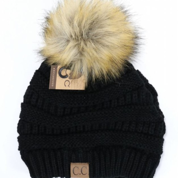 c81d8dfa321 C.C. Beanie with Fur Pom